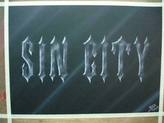 Sin City Logo-Metal Blades & Rivets!!