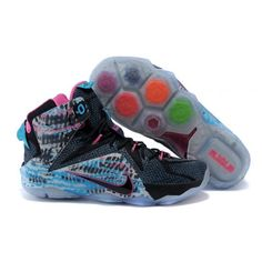 online retailer 3fc79 23e1b Buy 2015 Cheap Nike LeBron 12 23 Chromosomes Black Pink Pow-Blue Lagoon  from Reliable 2015 Cheap Nike LeBron 12 23 Chromosomes Black Pink Pow-Blue  Lagoon ...