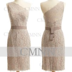 Lace Party Dresses Champagne Lace Wedding Dresses Pencil by CMNN, $119.00