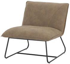 Link nojatuoli ruskea tekstiilinahka