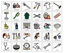 Here is an activity for students to cut and sort tools, uniforms, supplies, etc. for 4 different community helpers: Custodian, Nurse, Plumber, Hairdresser. Great for assessing your students! There are two different versions included in this Activity Pack: Color / Black and White. Community Helpers Crafts, Diy For Kids, Crafts For Kids, Community Workers, Kids Study, Higher Education, Sorting, Social Studies, Hairdresser