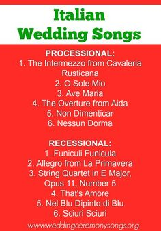 Italian Wedding Songs