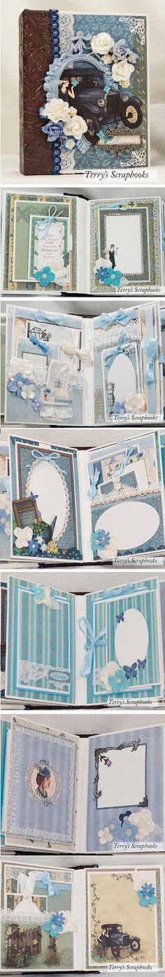 Terry's Scrapbooks: Beauty In Blues Mini Album J & S Hobbies and Craft...