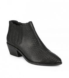 Joie Barlow Snake Embossed-Leather Ankle Boots in Black