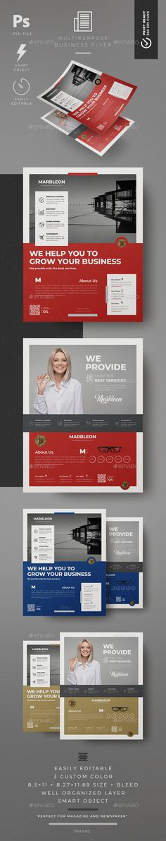 Corporate Flyer Design Template PSD. Download here: https://graphicriver.net/item/business-flyer-2-style/21967274?ref=ksioks