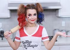 Rosanna Pansino as 'Harley Quinn' from Suicide Squad