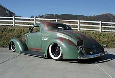 Ford Coupe ((the color i want for Bettie)) Vintage Trucks, Old Trucks, Rat Rods, Pick Up, Hot Rod Autos, Sweet Cars, Us Cars, Custom Cars, Rats