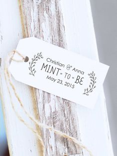 Mint To Be Custom Wedding Stamp Wreath Stamp  by ThePrintMint