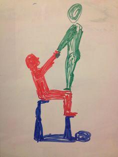 easy acro stunt for 3 people  yoga challenge poses 3