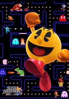 Pacman- Super Smash Bros Wii U and 3DS