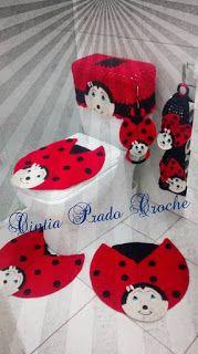 Cintia Prado Crochê: Jogo de Banheiro Joaninhas