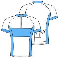 Patrones y moldes para usuarios domésticos y profesionales Remera ciclismo 6023 HOMBRES Remeras Flats, Jackets, Design, Supreme T Shirt, Fashion Patterns, Bathroom Black, Branding, Athletic Wear, Biking