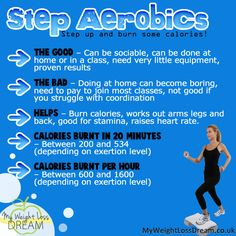 Step aerobics facts for weightloss #weightloss #weightlosstips