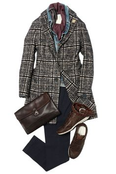 The best selection of contemporary and vintage clothing, luxury brands and many more you can buy online now Suit Fashion, Mens Fashion, Man's Overcoat, Outfit Grid, Mens Style Guide, Classy Casual, Vintage Outfits, Vintage Clothing, Gentleman Style