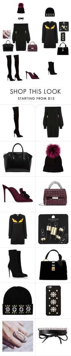 """""""Untitled #8"""" by i-violet-x ❤ liked on Polyvore featuring River Island, Givenchy, Neiman Marcus, Jimmy Choo, STELLA McCARTNEY, Fendi, Topshop, Haider Ackermann, Miu Miu and Markus Lupfer"""