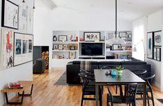 Rénovation et design architectural dans un bungalow des années fifties : le salon | Décormag