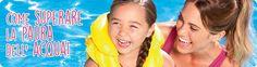 Che divertimento rinfrescarsi in piscina quando fa caldo! Come superare la paura dell'acqua? Scoprilo sul nostro blog!
