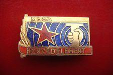 OLD RARE HUNGARY MHSZ HONVEDELEMERT ENAMELLED BRONZE Badge Civil Defense Medal