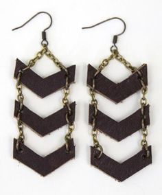 Chevron Dangle Earrings $28