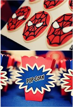 Cool Customers: A Marvelous, Spider Hero Birthday Party! by Bird's Party  #spiderhero #spider #superhero #birthday #party #partyideas #boys #boysparties #festas #meninos