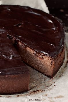 Chocolate & Baked Plum Cheesecake