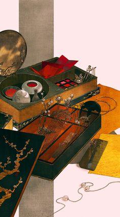 my hanfu favorites — 美人画 Paintings of beauties in traditional. Chinese Artwork, Chinese Painting, Hanfu, Casa Anime, Art Tumblr, Prop Design, Korean Art, Alphonse Mucha, China Art