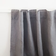 Grey Faded Linen Curtain
