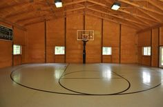 Barn basketball court More