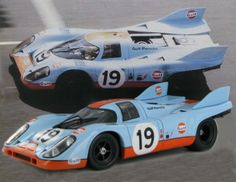 1:18 model of the John Wyer Automotive Engineering  Porsche 917 K as driven to second place at Le Mans 1971 by Richard Attwood - Herbert Müller.