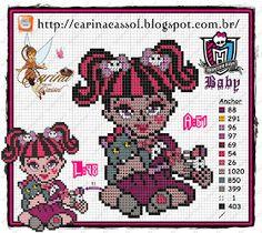 Pontinhos Mágicos: Gráficos Monster High Babys!!!