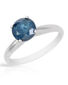 Product Name 1.52 CTW Ladies Diamond Ring Designed In 14K White Gold at Modnique.com