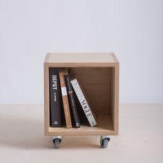 #inspo #livingroom #TR16 under window / plywood storage box or bin on wheels