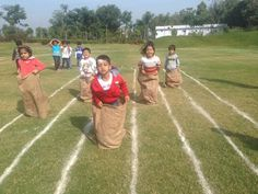 Sack race by UKG #GGIS #RepublicDay #SportsDay