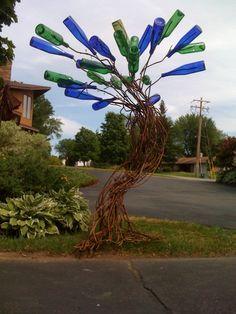 Whimsical bottle tree by 180Design