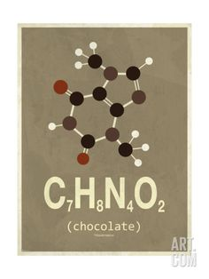 Molecule Chocolate Giclee Print at Art.com