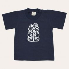 Redcurrent - Nature Baby Tiki T-Shirt - Navy | Redcurrent - online, homewares, gifts for women, Ecoya, New Zealand