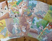 Cadeau envelopjes gemaakt van Disney boek, Stampertje, 10 stuks, 7,5 x 11 cm