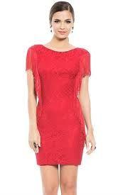 Resultado de imagem para vestido vermelho curto com renda