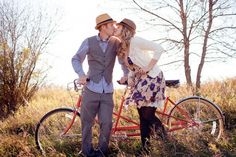 i'd love to get a pic of my adorable parents like this with their new tandem bike!