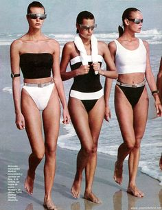Elle Mccpherson and Yasmin Le Bon by Gilles Bensimon - Elle Fr. June 1985