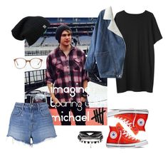 """""""IMAGINE : TOURING WITH MICHAEL"""" by vjerph ❤ liked on Polyvore featuring T By Alexander Wang, American Apparel, Organic by John Patrick and Converse"""