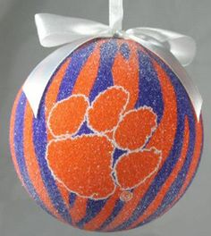 Clemson Tiger Zebra Ornament