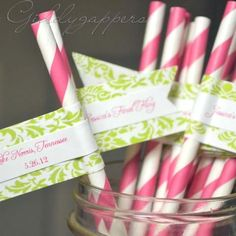 lilly pulitzer themed bridal shower wwwbbond0520etsycom offers custom straws stirrers for any event