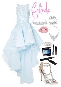 """Glinda- Prom #2"" by xxmonnyxx ❤ liked on Polyvore featuring Mikael D, Badgley Mischka, Jon Richard, Serge Lutens, Christian Dior, Sole Society, Swarovski and Carolee"