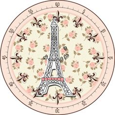 . Clock Printable, Printable Crafts, Paris Cards, Torre Eiffel Paris, Cool Clocks, Bottle Cap Crafts, Bottle Cap Images, Decoupage Paper, Scrapbook