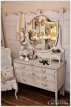 Shabby Chic swoon dresser and the room divider behind it