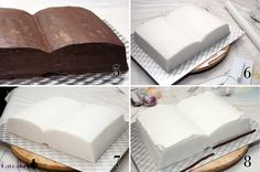 Catcakes - Pastry Chef: Tutorial book-shaped cake