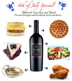 """Ceja """"Vino de Casa"""" Red Blend. The wine that goes with breakfast, lunch and dinner!"""