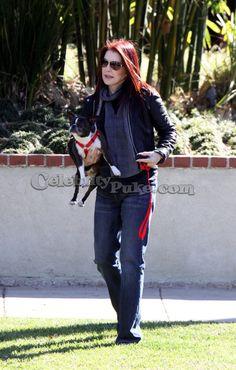 Jan 2009 Priscilla & her dog