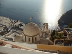 Awesome view from Sphinx restaurant in Santorini